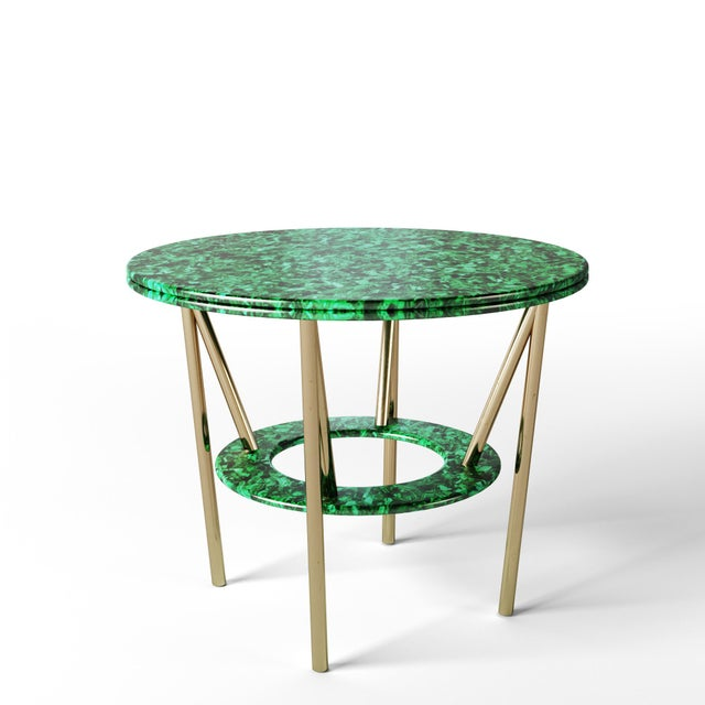 Contemporary 21st Century Custom Made Contemporary Around We Go Foyer Table For Sale - Image 3 of 7