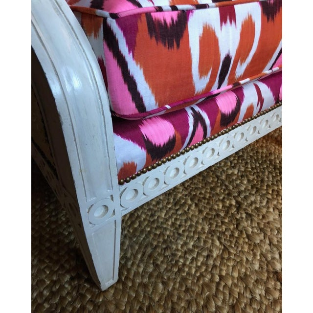 Ikat Upholstered Oly Studio Tobias Chair Set For Sale In Chicago - Image 6 of 9