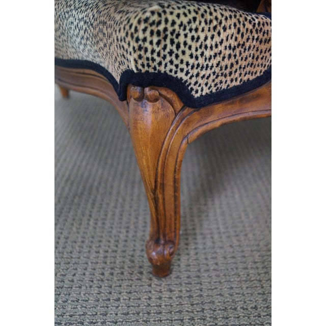 Ethan Allen French Louis XV Cheetah Print Chair For Sale - Image 5 of 10