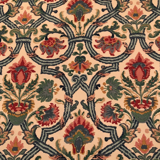 "Lee Jofa's ""New Sevilla"" in Multi Linen Fabric - Almost 3 Yds - Image 2 of 7"