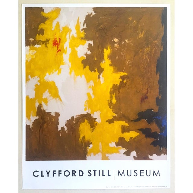 """Clyfford Still Abstract Expressionst Offset Lithograph Print Museum Poster """" Ph - 321 """" 1948 For Sale - Image 13 of 13"""