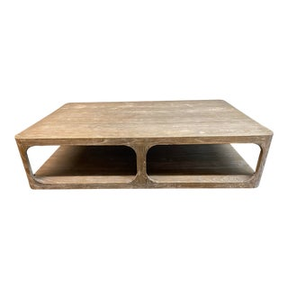 Restoration Hardware Martens Coffee Table For Sale