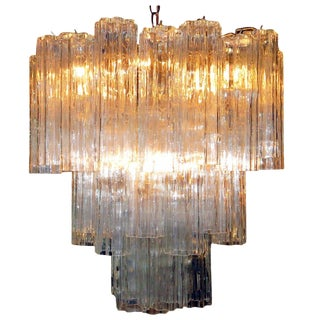 Murano Glass Tronchi Pendant Chandelier by Venini For Sale