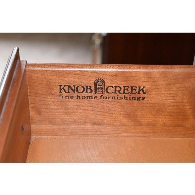 Brown Ethan Allen Knob Creek Cherry 7-Drawer Lingerie Chest (Tallboy Dresser) 31-5424 For Sale - Image 8 of 10