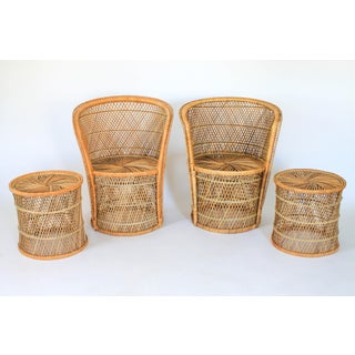 Petite Boho Style Wicker Chairs & Tables Preview