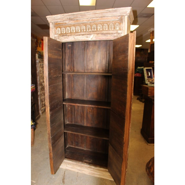 Make your home the castle of your dreams with plenty of storage space with our patina doors Carved Wardrobe cabinet. Iron...