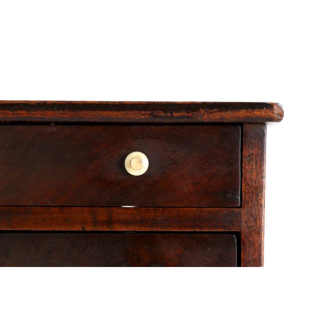 MINIATURE AMERICAN FEDERAL INLAID MAHOGANY SPICE CHEST Massachusetts c. 1805-15 This is a beautiful miniature chest of...