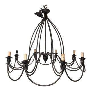 Linear 8 Light Chandelier For Sale