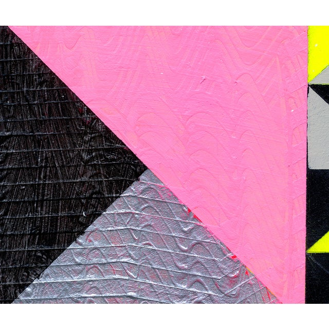 """Ny15 #19"" Original Geometric Painting - Image 4 of 4"