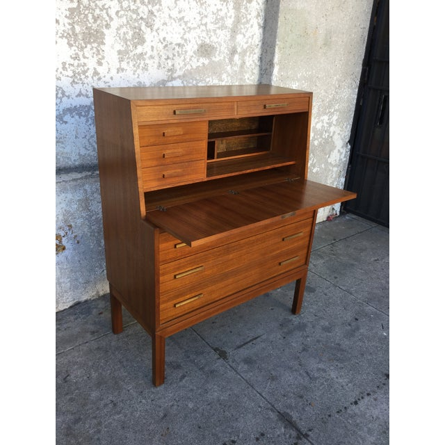 """""""Falsigs"""" Made in Denmark Vintage Teak Desk - Image 4 of 7"""