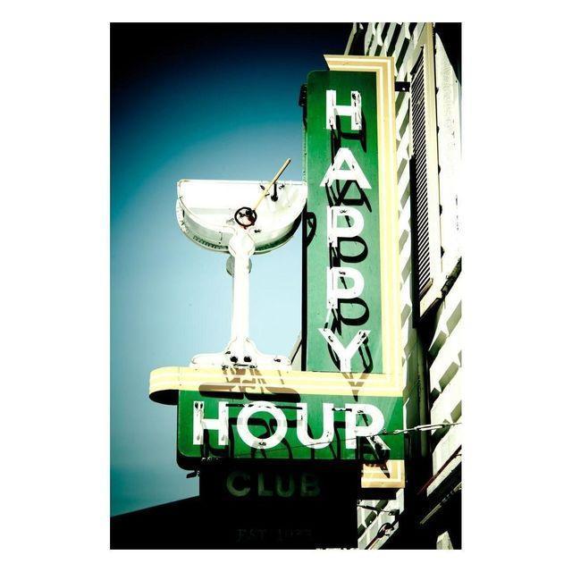 "Jeremy Brooks ""Happy Hour Club"" Floating Print - Image 2 of 2"