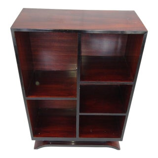 1935 French Rosewood Bookcase For Sale