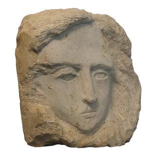 """""""Visage of Elizabeth"""" Stone Sculpture For Sale"""