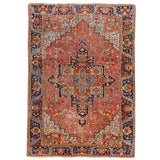 "Image of Antique Persian Heriz Rug, 8' X 11'1"" For Sale"