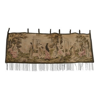Flanders ''Court Yard Play Garden'' Handwoven Vintage 1880s Tapestry For Sale