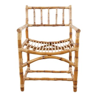 Early McGuire Organic Modern Bamboo Armchair For Sale