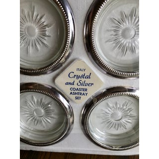 Italian Crystal & Silver Coaster Sets - a Pair Preview