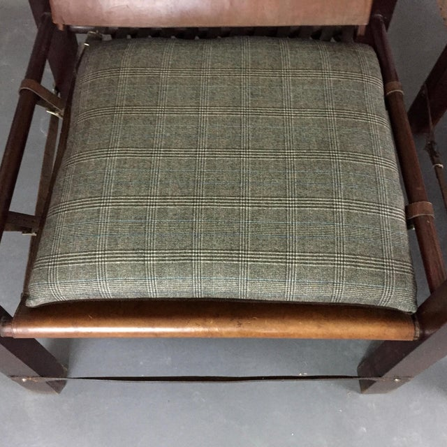 American Mid-Century Safari Chair, Reversible Seat Cover For Sale - Image 12 of 13