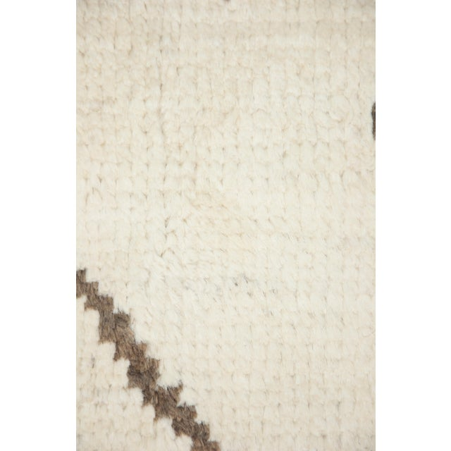 """Moroccan Hand Knotted Area Rug- 7'10"""" x 9'9"""" - Image 3 of 3"""