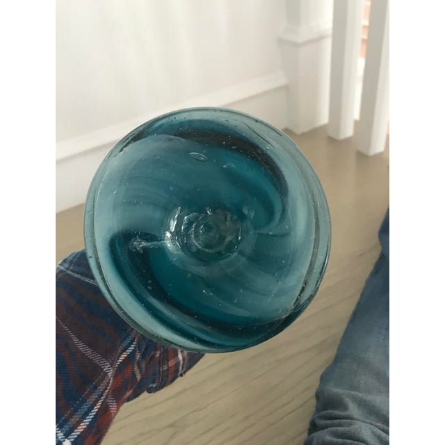 Art Glass Large Vintage Murano Glass Art Vase For Sale - Image 7 of 8