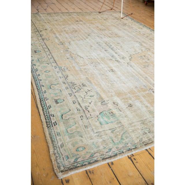 "Vintage Distressed Oushak Carpet - 7'2"" X 10'1"" For Sale - Image 10 of 13"