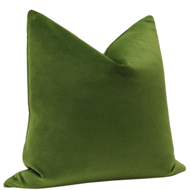 "22"" Peridot Velvet Pillows - a Pair - Image 3 of 5"