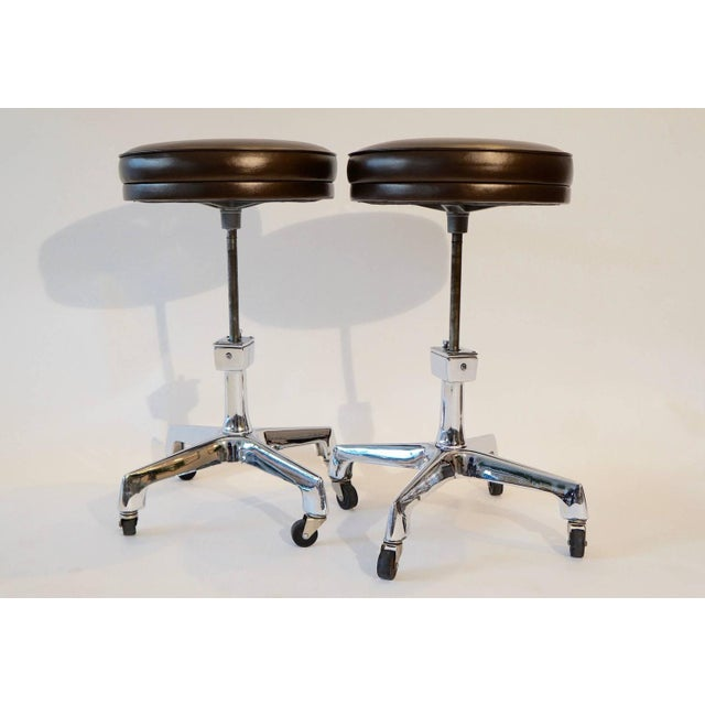 Industrial Reliance Industrial Stools- A Pair For Sale - Image 3 of 6