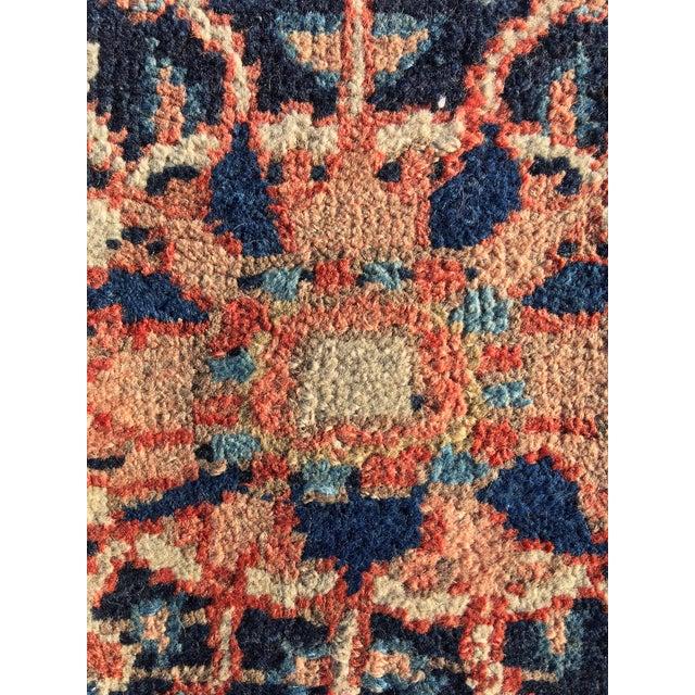 """Vintage Persian Heriz Door Mat Rug - 2'1"""" x 2'8"""" - Image 8 of 8"""