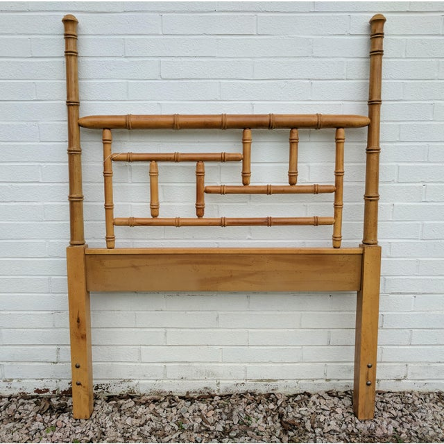 Faux Bamboo Chippendale Wood Twin Poster Headboard The same exact headboard was featured in a current issue of House...