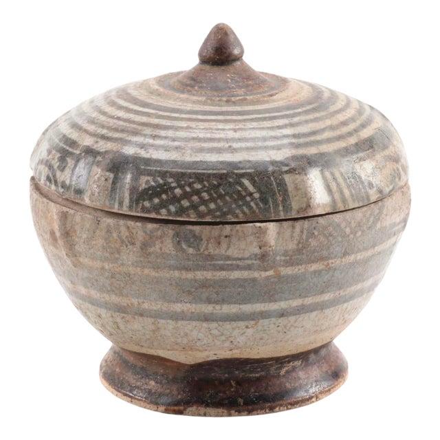 Thai Sawankhalok Covered Earthenware Jar 14th/15th C. For Sale