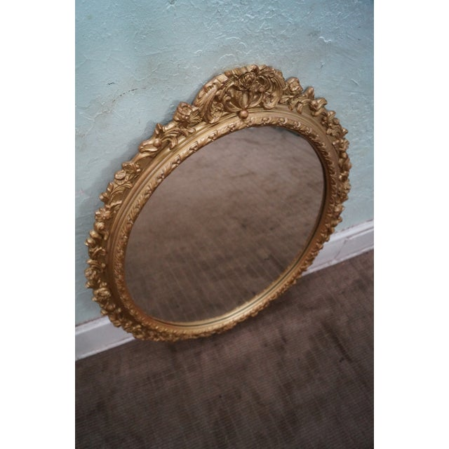 Carved Gilt Wood French Louis XV Style Mirror - Image 2 of 10
