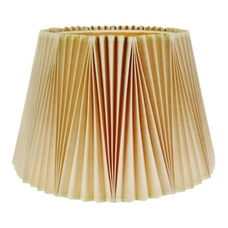 Vintage Large Stiffel Empire Style Pleated Fabric Lampshade For Sale