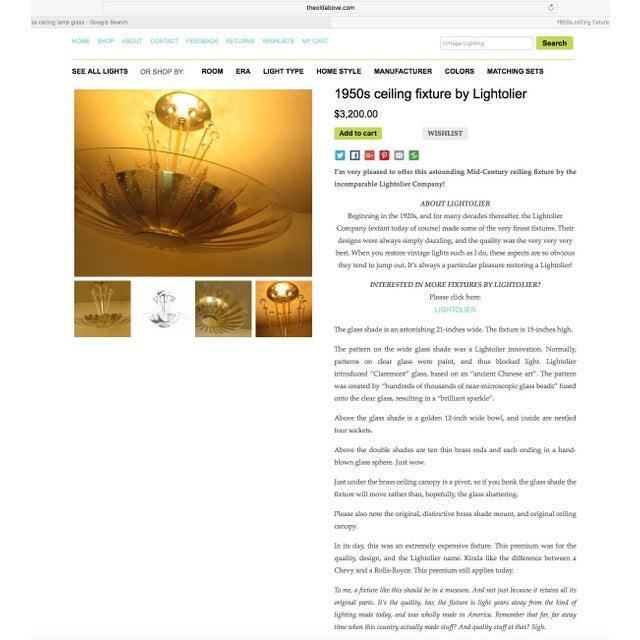 Lightolier Chandelier Ceiling Fixture Lamp For Sale - Image 9 of 10