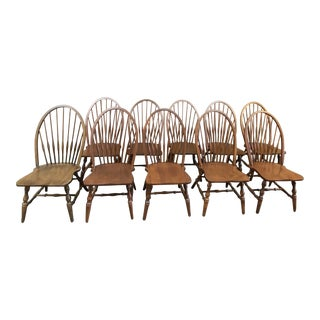 Kli Logatec Windsor Style Dining Chairs - Set of 10 For Sale