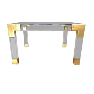 Nib Jonathan Adler Jacques Lucite and Brass Coffee Table