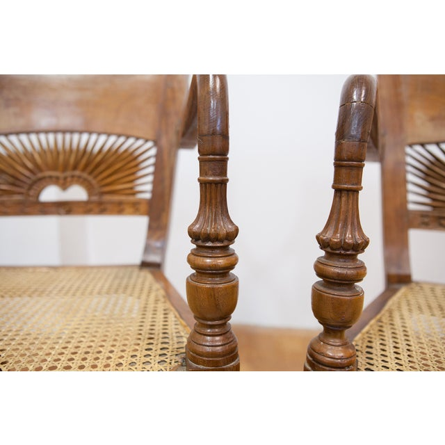 Vintage Teak & Cane Chairs - A Pair - Image 7 of 9