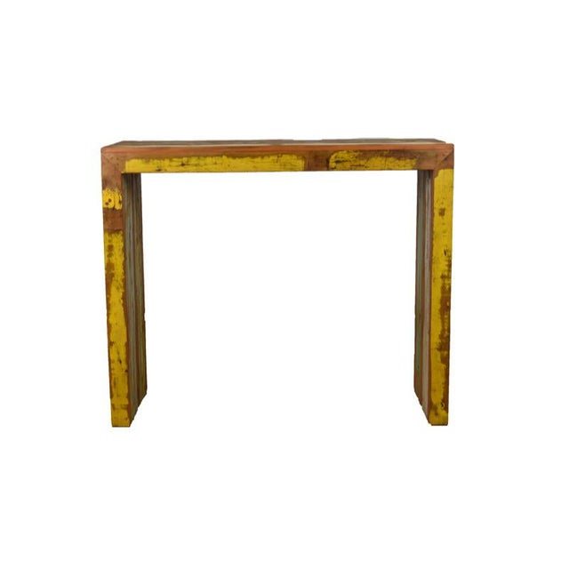 "Reclaimed Wood Balcony Bar Table / High Console 47"" Long - Image 5 of 5"
