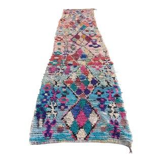 Vintage Moroccan Berber Boucherouite Rug -