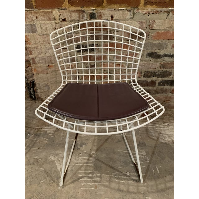 Purple Vintage Mid Century Knoll Bertoia White Side Chairs - Set of 4 For Sale - Image 8 of 13