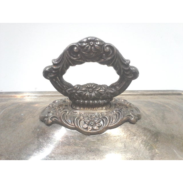Silver-plated Ornate Baroque Lidded Serving Dish - Image 5 of 8