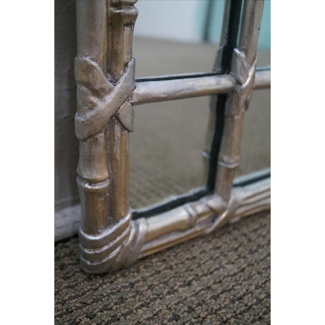 Hollywood Regency Faux Bamboo Mirror For Sale - Image 7 of 10