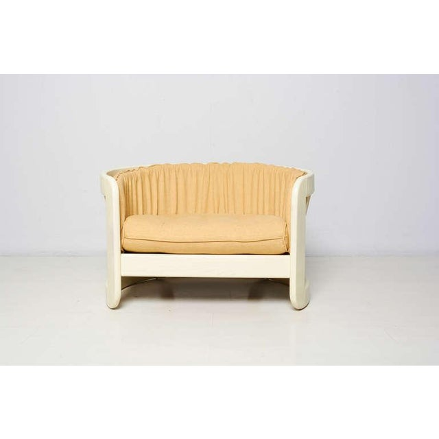 Milo Baughman Style White Lacquer Lounge Chair - Image 5 of 6