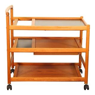 Johannes Andersen for Dyrlund Teak Bar Cart For Sale
