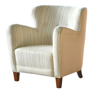 Fritz Hansen Attributed Model 1669 Style Easy Chair, Denmark, 1940s For Sale