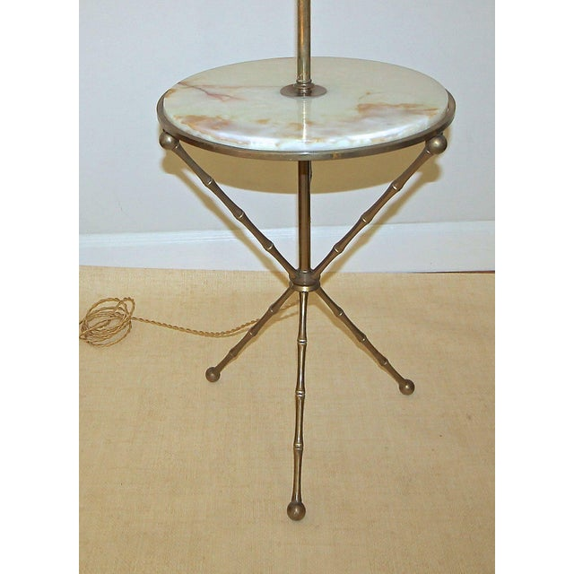 1950s Vintage Bagues Faux Bamboo Tripod Lamp Table For Sale In Dallas - Image 6 of 11