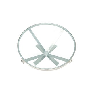 Iron Metal Base Coffee Table With Round/Circle Glass Top Preview