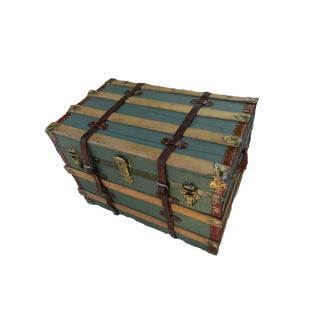 1900s Jones & Schwarzkopf Travel Trunk For Sale