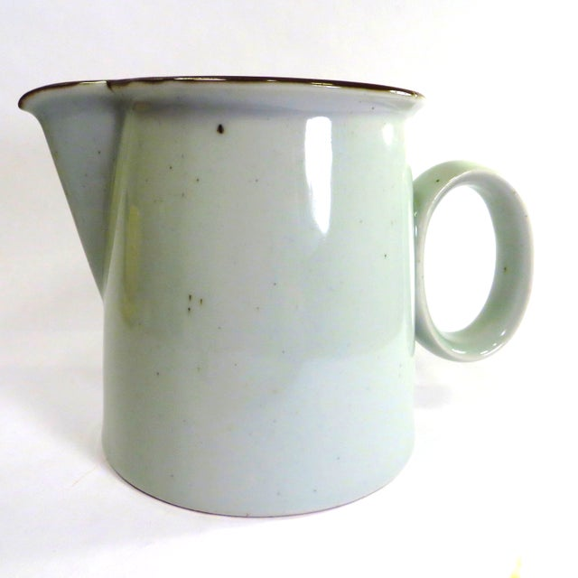 A Dansk Denmark brown mist pitcher, 32 oz designed by Niels Refsgaard, made 1972 to 2002. Excellent Condition: No marks,...
