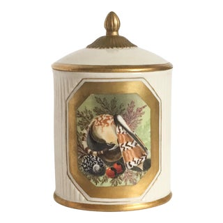 Mottahedeh Seashell Motif Nautical Canister Box