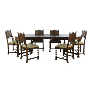 Vintage Berkey & Gay Seven-Piece Wooden Dining Set - 7 Pieces For Sale